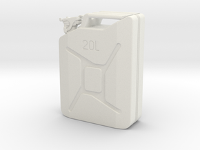 Jerry Can Scale  1 to 7.5 in White Natural Versatile Plastic