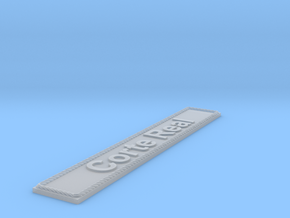 Nameplate Corte Real in Smoothest Fine Detail Plastic