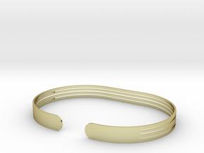 Extended Stripe Bracelet in 18k Gold Plated Brass