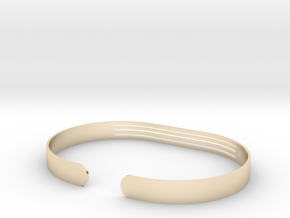 Front Striped Bracelet in 14k Gold Plated Brass