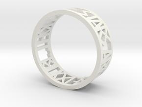 Hamlet Quote Ring_Bend in White Premium Versatile Plastic