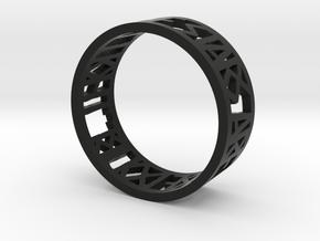 Hamlet Quote Ring_Bend in Black Premium Strong & Flexible