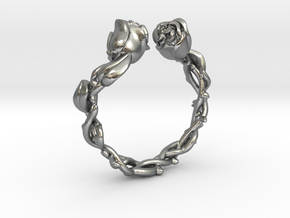 Roses Ring in Natural Silver: 5 / 49