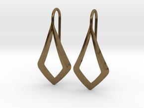 HIDDEN HEART Lucent Earrings. Pure Elegance in Natural Bronze