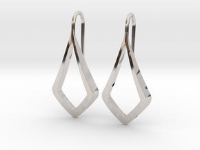 HIDDEN HEART Lucent Earrings. Pure Elegance in Platinum