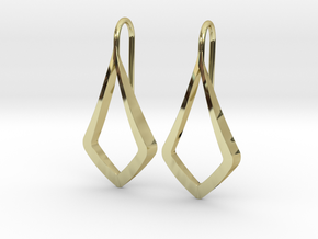 HIDDEN HEART Lucent Earrings. Pure Elegance in 18k Gold Plated Brass