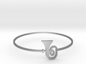 Tuba Bangle in Natural Silver