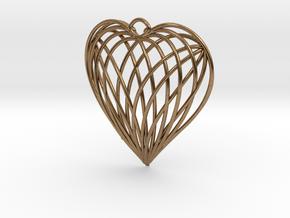 Woven Heart in Natural Brass