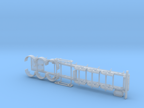05 001 Ecotrail Tank Chassis in Smooth Fine Detail Plastic
