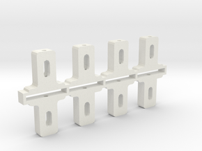 Adjustable front axle blocks, tall in White Strong & Flexible