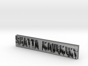 Shatta Movement Pendant 3 in Natural Silver