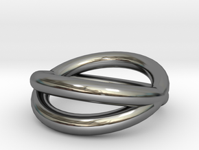 """""""Orbit Ring"""" (Thick) Size 6  in Fine Detail Polished Silver"""