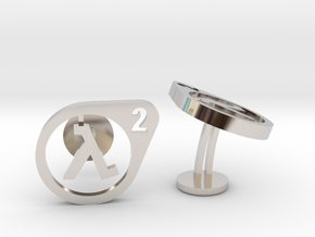 Half Life 2 Cufflinks in Rhodium Plated