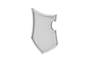 Guardian Shield - Plain in Smooth Fine Detail Plastic