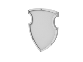 Battle Shield - Plain in Smooth Fine Detail Plastic