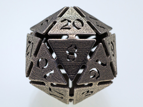 Big die 20 / d20 32mm / dice set in Stainless Steel