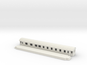 BCo7b - Swedish passenger wagon in White Natural Versatile Plastic