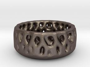 Fruitbowl in Polished Bronzed Silver Steel: Medium