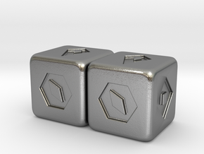 Han Solo's Sabacc Lucky Dice - Double in Natural Silver