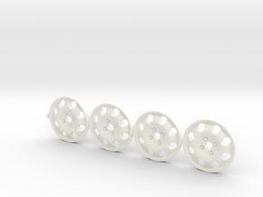 4 tapacubos 309 gti 1:24 para llanta 19mm in White Processed Versatile Plastic
