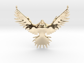 Falcon Amulet in 14k Gold Plated Brass