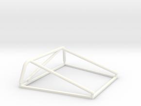 jaula porsche 908-3 1:24 in White Processed Versatile Plastic
