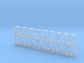 Helmhalter Typ-B 12 Stück 1:40 in Smooth Fine Detail Plastic