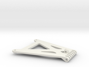 losi xx, xxt, xxt cr and xx cr front chassis stiff in White Natural Versatile Plastic