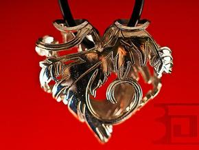 Silver Blossom Heart in Polished Silver