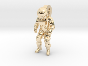 Astronaut Earring Pendant / 21mm in 14K Yellow Gold
