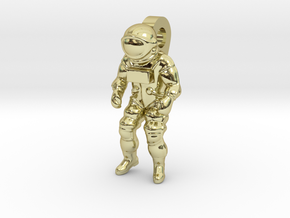 Astronaut Earring Pendant / 21mm in 18K Gold Plated