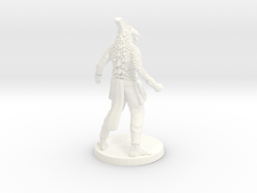 Dragonborn Monk in White Processed Versatile Plastic