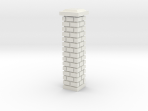 Large Fence Pillar 28mm -- Pulp Alley in White Natural Versatile Plastic