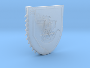 Left-handed Chainshield (Hydra Chain design) in Smooth Fine Detail Plastic: Small