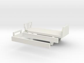 wengernalpbahn Swiss HOe k 414 guterwagon in White Natural Versatile Plastic