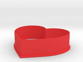 Heart Cookie Cutter in Red Processed Versatile Plastic