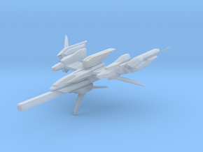 F-981A Space Fighter in Smooth Fine Detail Plastic