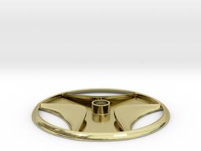 Schist Disc Egyptian Artifact Pendant in 18k Gold Plated Brass