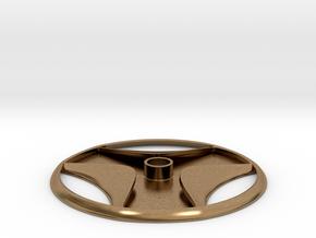 Schist Disc Egyptian Artifact Pendant in Natural Brass