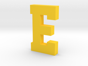 Decorative Letter E in Yellow Processed Versatile Plastic