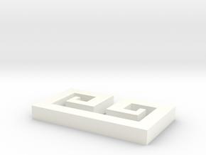 Bella Ez Clip V3 in White Processed Versatile Plastic