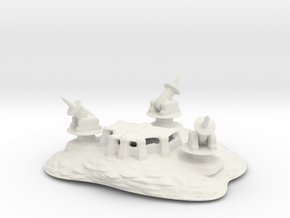 The orbit defense bunker in White Natural Versatile Plastic