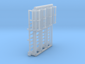 N Scale Cage Ladder 18mm (Top) in Smooth Fine Detail Plastic