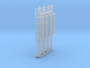 N Scale Cage Ladder 38mm (Platform) in Smooth Fine Detail Plastic