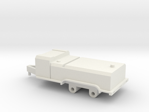 1/64 fuel trailer  in White Natural Versatile Plastic