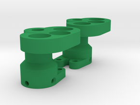 MRC Rear Lockout for Cut Down Wraith Axle V2 in Green Processed Versatile Plastic