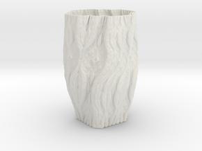 ABPW Vase 106 in White Natural Versatile Plastic