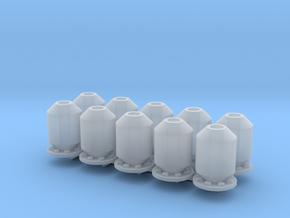 10 silencers_typ3, 10 Schalldämpfer in Smooth Fine Detail Plastic: 1:50