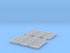 Door - N ( 1:160 scale ) 6 pcs set  in Smooth Fine Detail Plastic