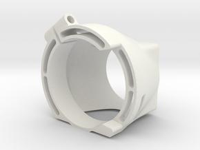 B64 Fan Mount v1.3 in White Premium Versatile Plastic